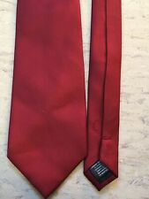 """Cedarwood State smart red polyester tie 3.5"""" wide 55"""" long"""