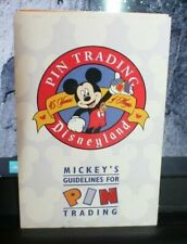 2000 Disneyland Castmember Pin Trading Rules Brochure Mickey Mouse Lanyard Rules