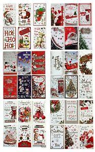 12 Assorted Christmas Money Envelope Gift Card Voucher Wallet Xmas Santa Present