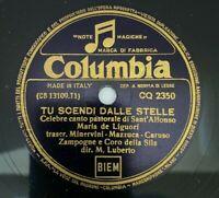 78 rpm Tu Scendi Dalle Stelle COLUMBIA Victrola Record IMPORT ITALY