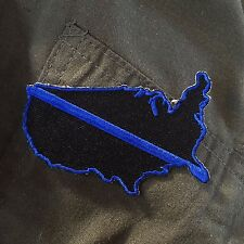 Thin Blue Line United States Patch, Law Enforcement