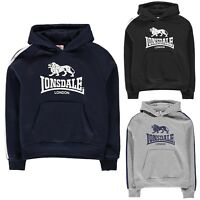 NEW LONSDALE JUNIOR BOYS KIDS HOODY 2 STRIPE OTH HOODIE HOODED TOP SM MB LB XLB