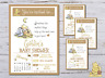 10 Personalised Classic Winnie The Pooh Baby Shower Invitations Invites + Envs