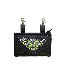 Ladies Leather Lime Green Butterfly Belt Bag Purse
