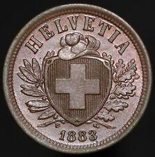 1883 | Switzerland 2 Rappen | Bronze | Coins | KM Coins