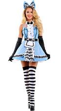 Sophisticated  Alice in Wonderland Costume Adult Women Halloween Fancy Dress