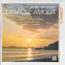 """John LITTLETON & LES BARDANES Vinyl 45T 7"""" EP DIEU EST AMOUR - SM Languette RARE"""