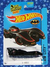 New Batman Hot Wheels Tim Burton Batmobile Die Cast Car Toy HW City Series MISP