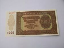 1000 Mark DDR 1948 B Serie mit Wasserzeichen Original Geldschein MDN Ostalgie RR