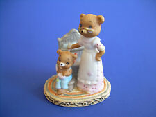 Mother & Child Honey Bears in Kitchen Lefton Porcelain #03589  Original Gift Tag