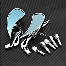 CH Motorcycle Cruiser Flame TEARDROP Rearview Mirrors for yamaha Harley suzuki