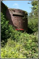 PHOTO  THE PILL BOX THAT DEFENDS THE RAILWAY BRIDGE OVER THE RIVER ELY.