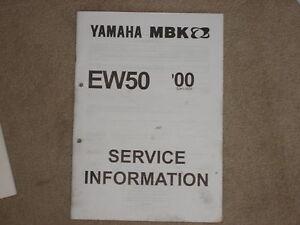 Yamaha Ew 50 Manual de Operación Servicio Información Inspección Manual 00