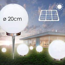 Illuminazione da Esterno Lampada Terra Luce Solare LED Crepuscolare Bianco 20 CM