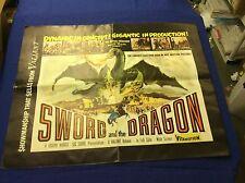 "original 1950's ""Sword and Dragon"" movie Pressbook"