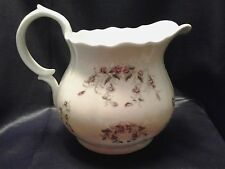 Vintage Porcelain Water Pitcher with Purple Flowers Germany / England / France