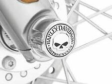 Harley willie g skull front axle nut cover kit softail touring vrod vrsc xl dyna