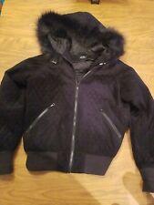 Goode Rider Academy Jacket Black Fur Trim Nwt Medium