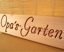 OPAs GARTEN, Holz Dekoschild, massiv, groß, 57 cm, für Garten, Terrasse, Haus