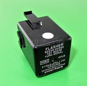 601-Kia Hyundai (03-15) 3-Pin Turn Signal (Flasher) Relay 95550-05000 12V 85C/M