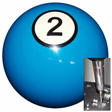 2 Ball Blue Billiard shift knob for Dodge Chrys Jeep auto stick w/ adapter