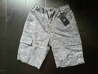 7 For All Mankind 7FAM Boys Printed Shorts Grey Size 12 NWT $39