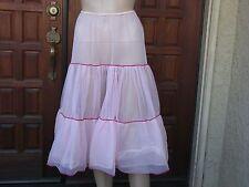 Vintage Crinoline Pink Slip Petticoat Rockabilly Skirt by Beau Monde Size Med
