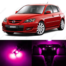 6 x Pink/Purple LED Interior Lights Package For 2004 - 2009 Mazda 3 MS3