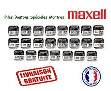 Piles Boutons Pour Montres 1,55V Marque Maxell Oxyde d'Argent, VENDEUR PRO