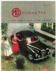 MG Magnette ZB 1956-58 UK Market Foldout Sales Brochure Duo-Tone