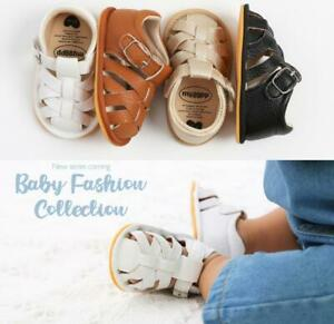 Baby Boy Girl Crib Shoes Infant Comfortable Pre-Walker Trainers Rubber Sandals