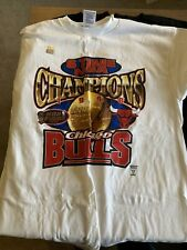 Vintage 1998 Chicago Bulls 6-Time NBA Champs NBA Finals T-Shirt NEW