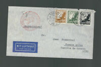 A-1247**GERMANY 1938  ZEPPELIN-/HINDENBERG JUDAICA COVER*BERLIN TO BUENOS AIRES