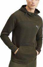 Puma evoStripe Mens Training Hoody Green Stylish Slim Fit Gym Workout Hoodie