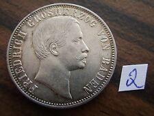 1861 1/2 Gulden vz Baden Durlach Friedrich I. 1856 - 1907 Altdeutschland Silber