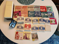 1940s 50s VIEW-MASTER Viewer & 173 Reels w/ Disney, Parks, Cities, Stories, Xmas