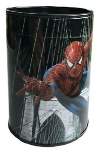 Spiderman Small Money Tin with Lift off Lid Black