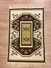 Turkish Anatolian Tribal Reversible Cotton Kilim Rug Brown Beige 60x90cm 60 off