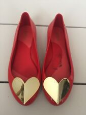melissa space love Heart ballet flat shoes Size 5 US 35 36 Eu
