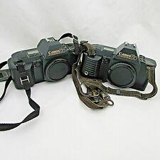 2 Canon T70 35mm Slr 35mm Film Camera Body w/bag & accessories