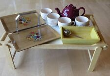 Breakfast Food Serving Tray Table laptop Folding Legs and Tea Items #0609-1052