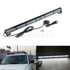 "24 LED 27"" White Emergency Traffic Advisor Flash Strobe Light Bar Safety Warning"