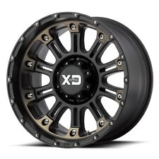 17 Inch Satin Black Wheels Rims XD Series Hoss 2 XD829 Jeep Wrangler JK Set of 5