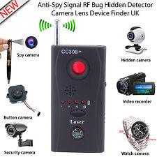 NUOVO RF bug Detector Anti-Spy segnale Nascosto Obiettivo Fotocamera Dispositivo TRACCIANTE FINDER UK