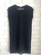 GORMAN Silk Navy Textured Blue dress RARE Size 8 Small