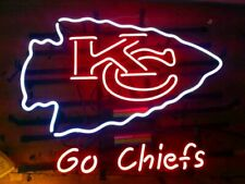 "New Kansas City Chiefs Go Chiefs Neon Light Sign 17""x14"" Beer Cave Gift Lamp"