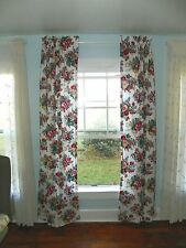 """RALPH LAUREN """"ELAINE"""" PAIR OF LINED DRAPES CURTAINS-100% COTTON-5 PAIRs AVAIL"""