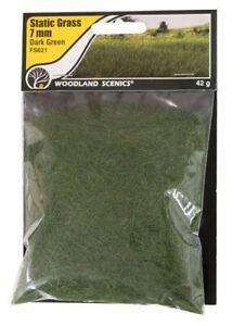 Woodland Scenics Static Grass Dark Green 7mm # FS621