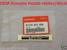 Genuine Honda New Sticker Decal Label Civic Accord Acura CRX CRV Del Sol NSX