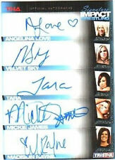 TNA Knockouts Mickie James A Love 2011 Sig Impact FIVE Autograph Card GOLD 6/25
